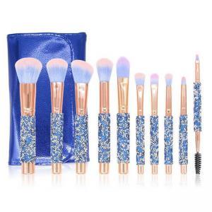 Best ISO9001 Rhinestone Handle Synthetic Makeup Brushes Set wholesale