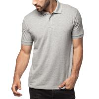 Best Pique Knit Rib Collar And Cuff Mens Cotton Polo Shirts , 2 Buttons Pocket Polo Shirts wholesale