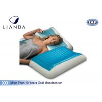 Best Blue Arctic Gel Contouring Memory Foam , Bedroom Cool Bed Pillow wholesale