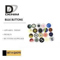 Best Fancy Colour Bulk Clothing Buttons , 4 Holes Plastic For Shirt wholesale