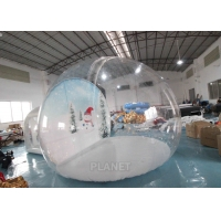 Best 4m Inflatable Snow Globe Bubble Tent With Passage Way Background wholesale
