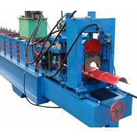 China Aluminum Ridge Cap Metal Roofing Roll Forming Machine 8 - 12 M / Min Production Capacity on sale