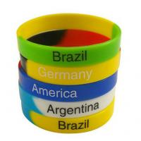 Best Green Yellow Blue Fashion Personalized Silicone Bracelets Charming Durable wholesale
