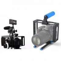 Cheap New DSLR camera cage RIGS for Canon Dslr 5D MARK II III 7D with 15mm guide rail for sale