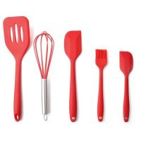 Best High Quality Silicone Kitchen Utensil Set 5 Piece Cooking Tools Utensils Brush Kitchen Accessories wholesale