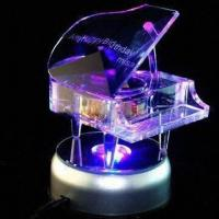 Best Crystal Music Box for Valentine's Day Gifts, Customized Logos and Pictures are Accepted wholesale