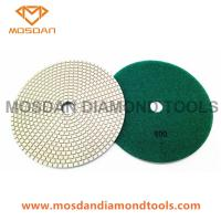 Best 180mm Dry Resin Bond Diamond Dry Floor Concrete Polishing Pads wholesale