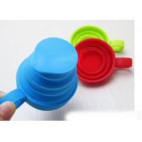 Best 6 Oz Travel Camping Mug Silicone Folding Cup Of Silicone Handle , Laser Engraved wholesale