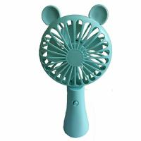 Best High quality handheld fans MIni Fan Electronic Usb Student Blue Pink ABS Plastic Anamal Appearance Fan For Children wholesale