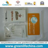 Best Good Quality Custom Full Colors Luggage Tag with PVC Rope wholesale