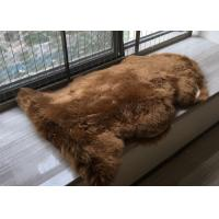 Best Real Australia Sheepskin Dark Brown Dyed Thick Long Australia Wool Carpet rug wholesale