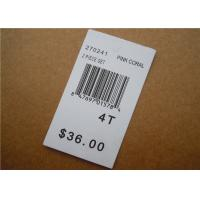 Best White Clothing Brand Tags / Paper Garment Hang Tags For Clothing wholesale