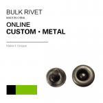 Small Size Jeans Pocket Custom Logo / Brass Metal Jeans Rivet / Bulk Rivet 2