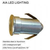 Best Stainless stell waterproof outside 1W LED inground light/waterproof led underground light wholesale