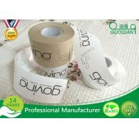Best Brown / White Color Kraft Paper Tape Customized Reinforced Gummed Kraft Paper Tape wholesale