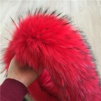 Best Long Pile Fluffy Raccoon Fur Collar Warm Removable For Ladies Down Jacket wholesale