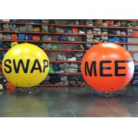 China Floating Inflatable Helium Balloons , Yellow UV Protective Advertising Sky Balloon on sale