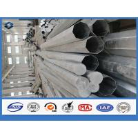 Customized Height metal power pole 69kv , Tubular Steel Poles High strength low alloy structural steels
