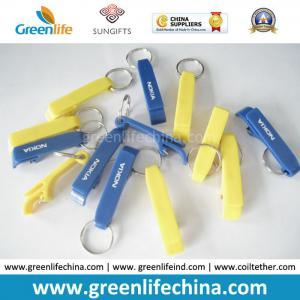 Best Custom Logo Printing on Cheap Popular Plastic Bottle Opener Key Ring Holders wholesale