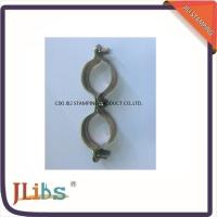 Best Double Pipe Clamps M7 Without Rubber Galvanized Pipe Clamps Yellow Zinc Galvanize wholesale