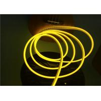 Buy cheap No Dark Spot 6 x 12mm Flexible LED Strip Light / Silicone Neon Rope Light Lemon Yellow Color from wholesalers