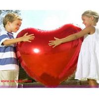 Best 75cm Large aluminum Inflatable Foil balloons lovers heart balloon gift Helium Balloon wholesale