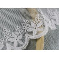 Best Scalloped Embroidered Nylon Mesh Lace Trims Cotton Tulle Floral Lace Trim Custom wholesale