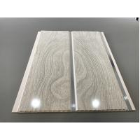 Cheap High Strength Peanut Pattern Groove Shaped PVC Wood Panels  250 × 7mm for sale