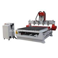 Cheap 4 Spindles 4 Rotary Axis Cylinder Flat Wood Carving Machine with NK105 Control for sale