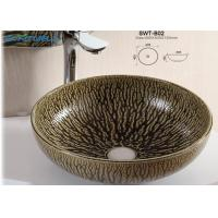 Best Standard Size Ceramic Art Basin Top Mounter Bowl Type For Bathroom CE wholesale