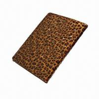 Best Leopard Print Case for iPad 2/3, Made of Genuine Leather, Customized Designs/Logos Accepted  wholesale
