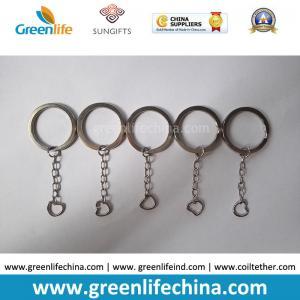 Best High Quality Stainless Steel #304  Inside Diametre 25MM Flast 3MM Dia Split Ring w/Chain wholesale