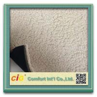 Best Elegant  Printed Sherpa Fleece Faux Fur Fabric  For Car Seat Upholstery , Home Textile wholesale