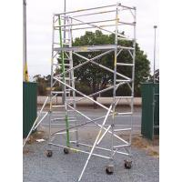 Outdoor Lightweight Wheels Aluminium Mobile Scaffold For Cleaning Gutters