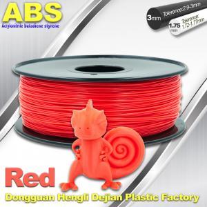 Best ABS Custom 1kg / roll Fluorescent Red Filament Luminous 3D Printer Consumables wholesale