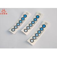 Best DMF Free Moisture Indicator Paper Six Dots , Humidity Card Indicator Blue To Pink wholesale