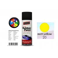 Best Higher Adhesive Removable Rubber Spray Paint , Matt Yellow Color Auto Spray Paint wholesale