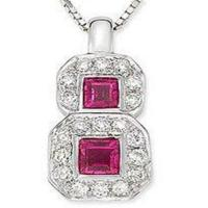 Best Pendant(Pink Ruby & Diamond Pendant) wholesale