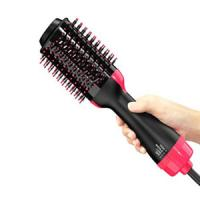 China One Step Hair Dryer, Salon Hot Air Paddle Styling Brush Negative Ion Generator Hair Straightener Curler for All Hair typ on sale