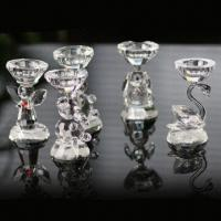 Quality Crystal Candle Holders for Christmas Decoration, Available in Various Shapes and Colors wholesale