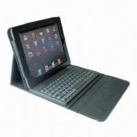 Best Silicone Bluetooth Keyboard with Leather Case for iPad2/3 wholesale