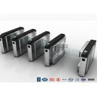 Cheap Waist High Turnstile Security Systems , Biological Recognition Flap Barrier Gate for sale