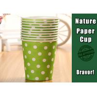 Best Eco Friendly Hot Liquid Paper Cups , PE Coated Thermal Paper Cups Dot Pattern wholesale