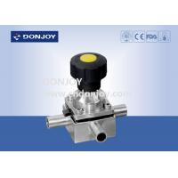 Buy cheap SS 316L plastic manual mini three way diaphragm valve with 3 ports, Welded Ends from wholesalers