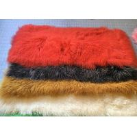 Best Dyed Mongolian Luxury Fur Throws For Sofas , Small Long Wool Sheepskin Rug wholesale