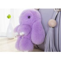Best Lovely Shape Fluffy Rabbit Keychain , Pendant Soft Bunny Keychain 13 -25cm wholesale