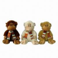 Best Plush Monkey Toys, 2 Assorted Colors, Measures 42cm, Available in Various Sizes and Designs wholesale