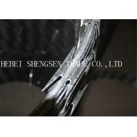 Best Heavy Protecting Razor Barbed Wire , Concertina Razor Blade Barbed Wire wholesale