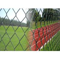 Best Used Galvanized Chain Link Fence , Galvanised Chain Link Fencing For Road / Sport wholesale