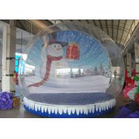 Cheap Christmas Backdrop Inflatable Snow Globe 3m - 5m Dia For Holiday Advertising for sale